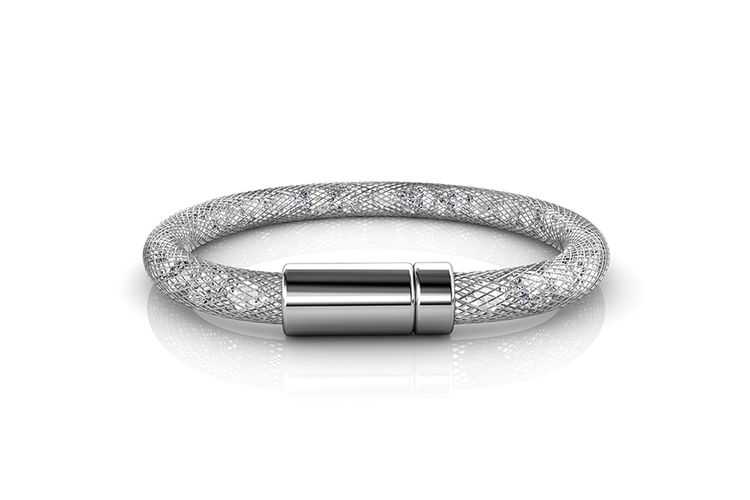 Korting Zilverkleurige armband met Swarovski elementen