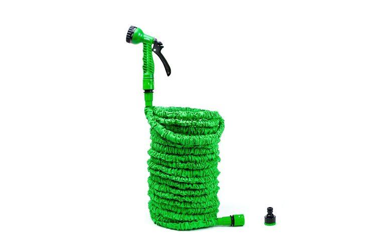 Uitzetbare tuinslang met pistool van Grafner (max. 30m)