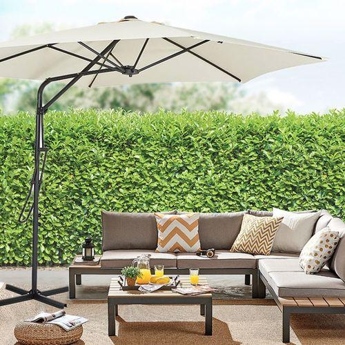 Crème zweefparasol van Feel Furniture (Ø 270cm)