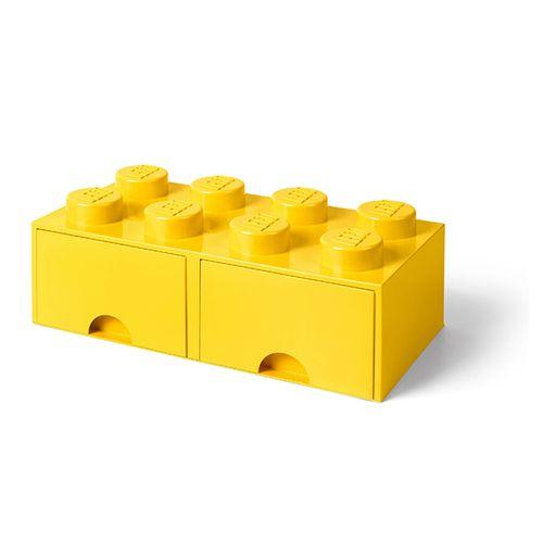 Gele opbergbox met 2 lades van LEGO