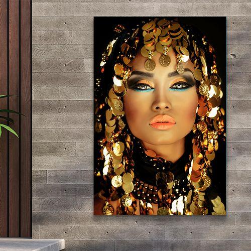 Exclusief vrouwenportret op tuinposter (80 x 120 cm)