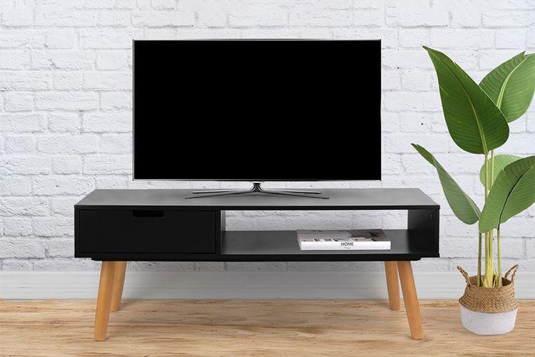 Zwart tv-meubel (100 x 40 x 40 cm)