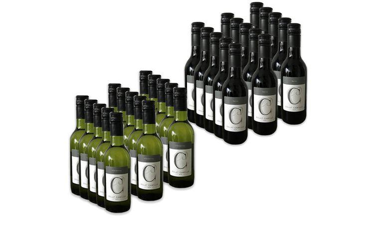 Korting Keuze uit 2 wijnpakketten (15 flesjes van 250 ml)