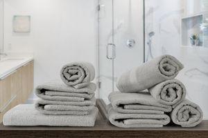 Luxe handdoeken van zijdezacht katoen (3 + 3 stuks)