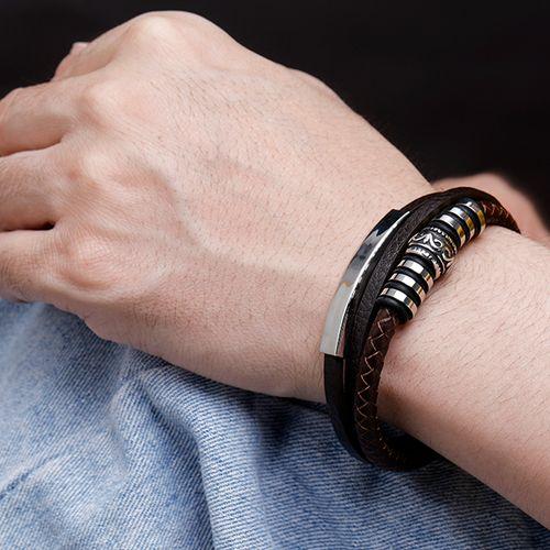 Leren armband voor heren