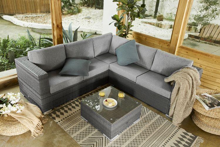 Aluminium loungeset met salontafel van Feel Furniture