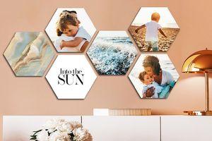Votre plus belle photo en forme d'hexagone (4 pièces)