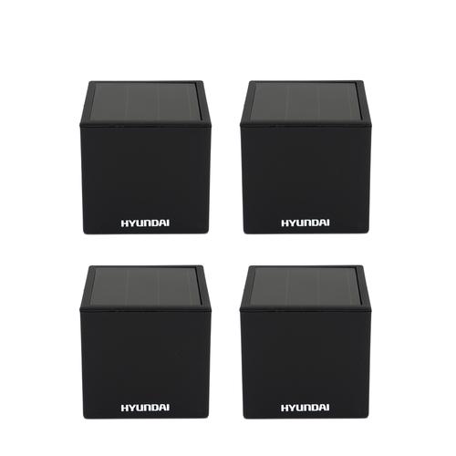 4 compacte kubus lampjes op solar van Hyundai (7 x 7 cm)