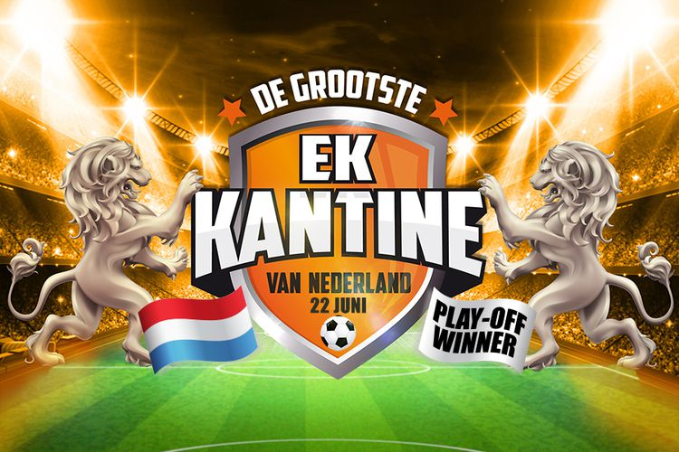 Korting EK laatste poule wedstrijd in Ahoy met Wolter Kroes Rotterdam