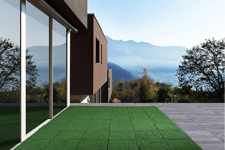 ProGarden terrastegels kunstgras - 9 stuks (30 x 30 cm)