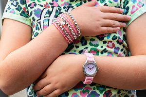 Kinderhorloge met 6 bijpassende armbandjes