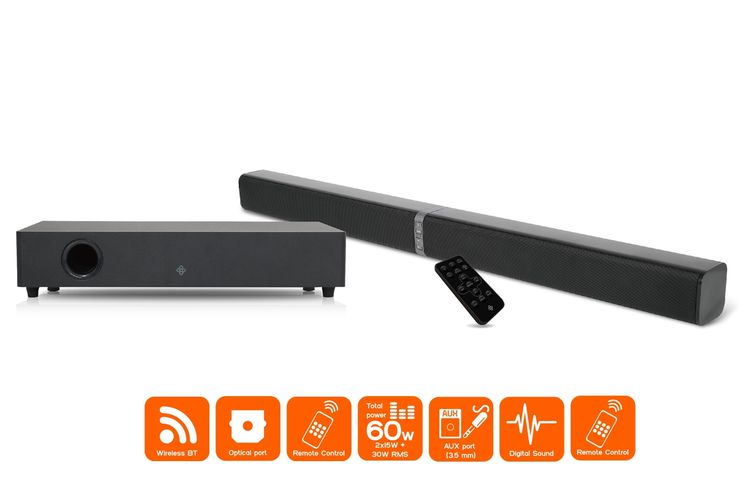 Dutch Originals 2.1 soundbar met losse subwoofer