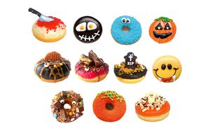 24 donuts Halloween de Dunkin'