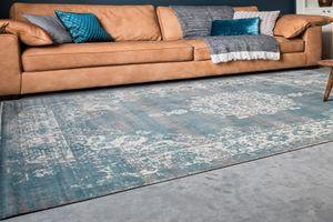 Grijsblauw vloerkleed (160 x 230 cm)