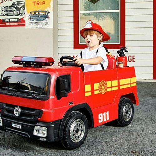 Elektrische brandweerwagen met accessoires (115 cm)