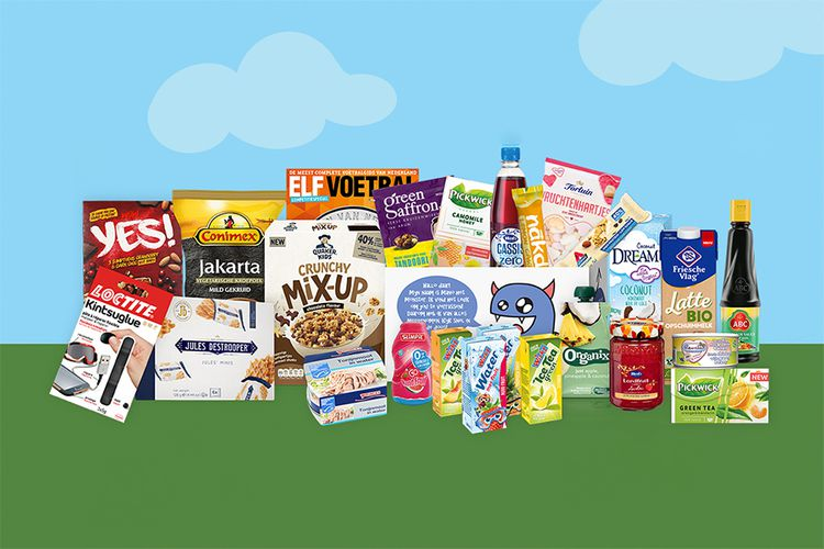 Monsterdoos met 26 producten + extra's thuisbezorgd