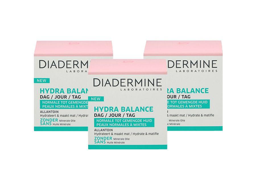 3 x Hydra Balance dagcr�me van Diadermine