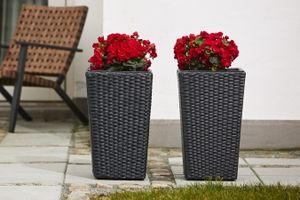 2 pots de fleurs Outfit (50 cm de haut)