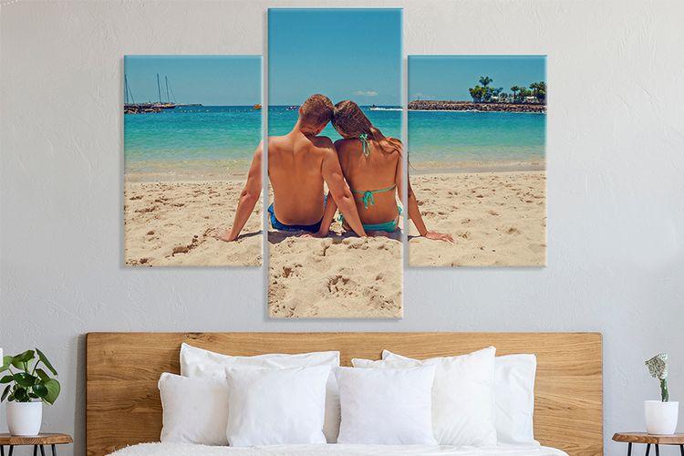 Jouw mooiste foto op een meerluik van canvas