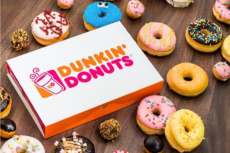 Korting 12 donuts plus 4 American cookies van Dunkin Donuts