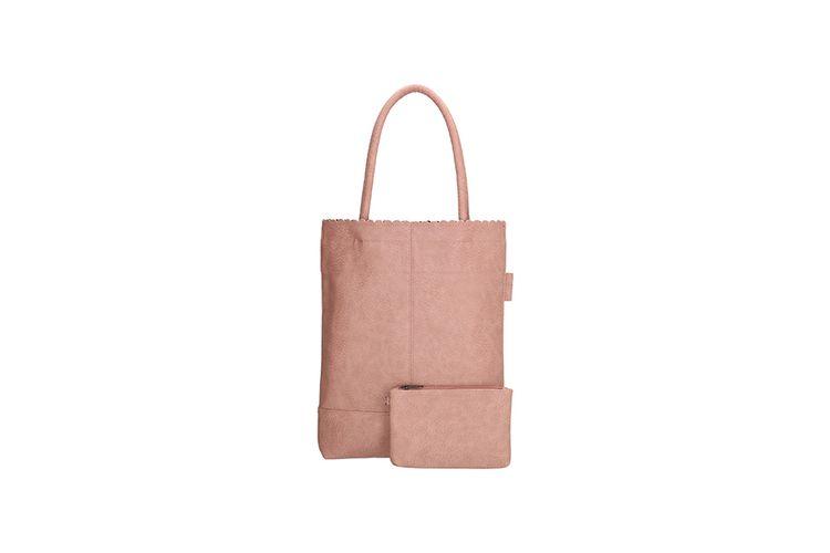 Roze shopper met afneembaar portemonneetje