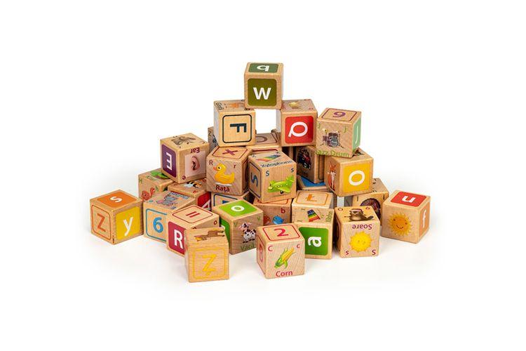 Korting 32 delige houten blokkenset
