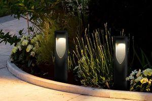 2 moderne solar-buitenlampen van Hyundai