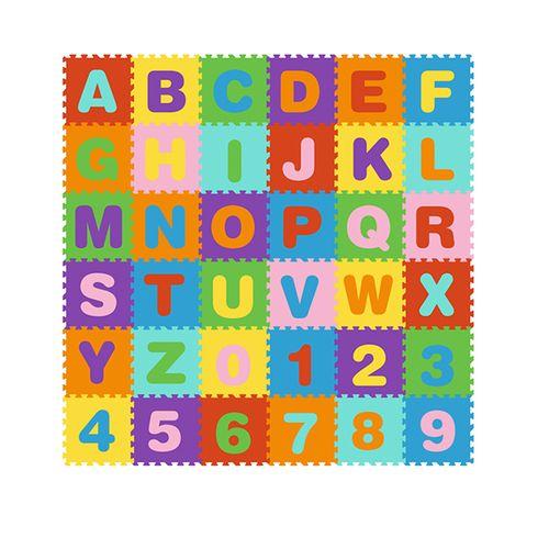 Speelmat met puzzelstukjes (178 x 178 cm)