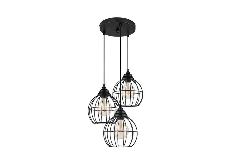 Zwarte metalen hanglamp van Lifa Living (model: Filip)