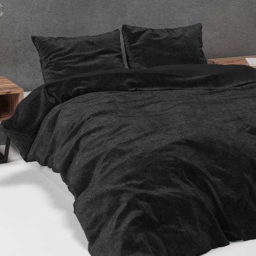 Velvet dekbedovertrek (zwart)