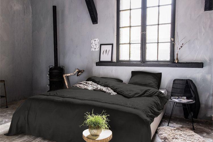 Dekbedovertrek Brussel zwart (200 x 200 - 220 cm)