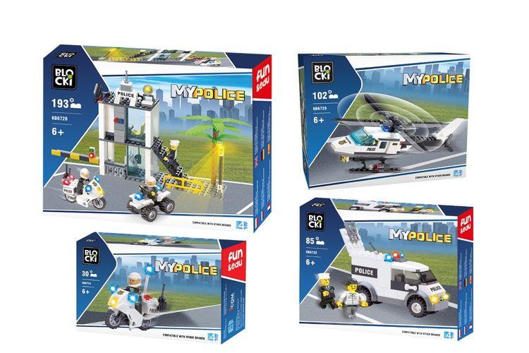 Korting Politie pakket (4 delig) van Blocki bouwstenen