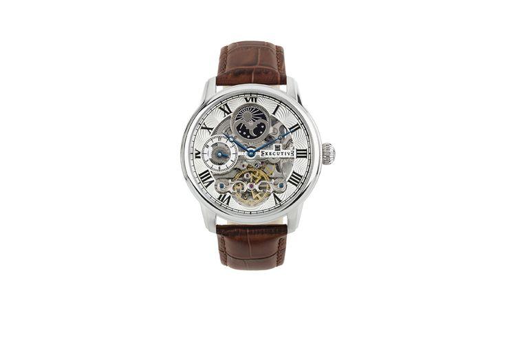 Herenhorloge met open uurwerk van Executive (Nicky)