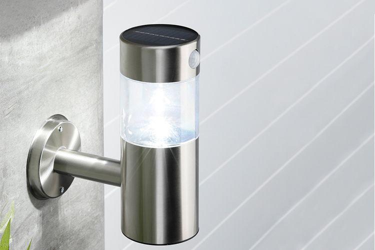 Wandlamp met bewegingssensor op zonne-energie