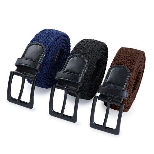 3 elastische riemen met zwarte gespen