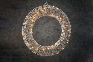Decoratiekrans met 50 led-lampjes