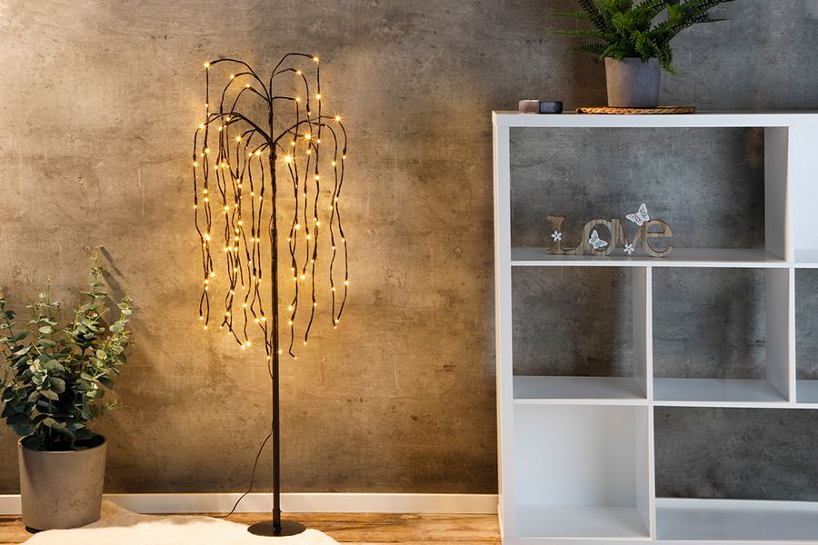 Staande lamp met hangende lichtjes (34 x 24,5 x 75 cm)