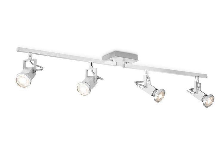 Plafondlamp met 4 spotjes inclusief lampjes (81 cm)