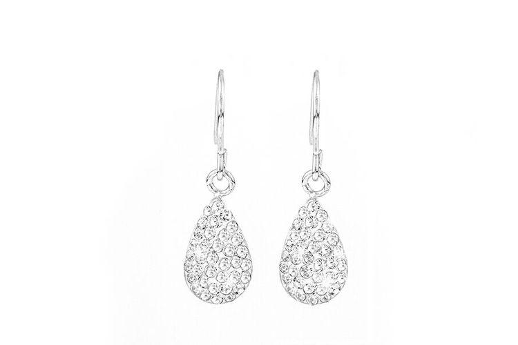 Zilveren oorbellen met kristallen van Di Lusso