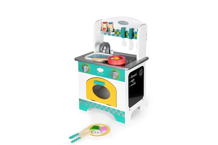 Houten speelgoedkeuken met accessoires van ECOTOYS
