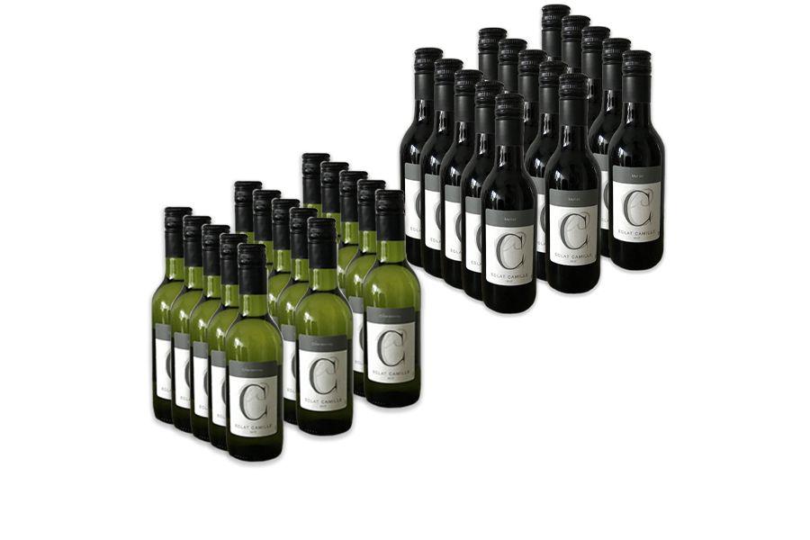 Keuze uit 2 wijnpakketten (15 flesjes van 250 ml)