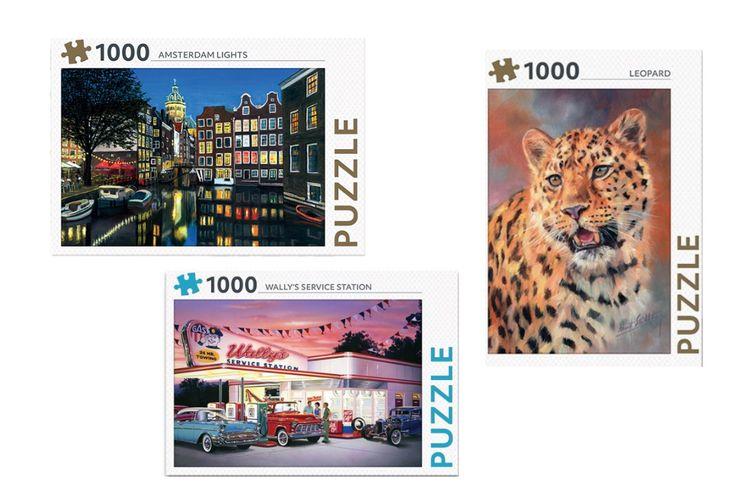 Korting 3 delige puzzelset (1.000 stukjes per puzzel)