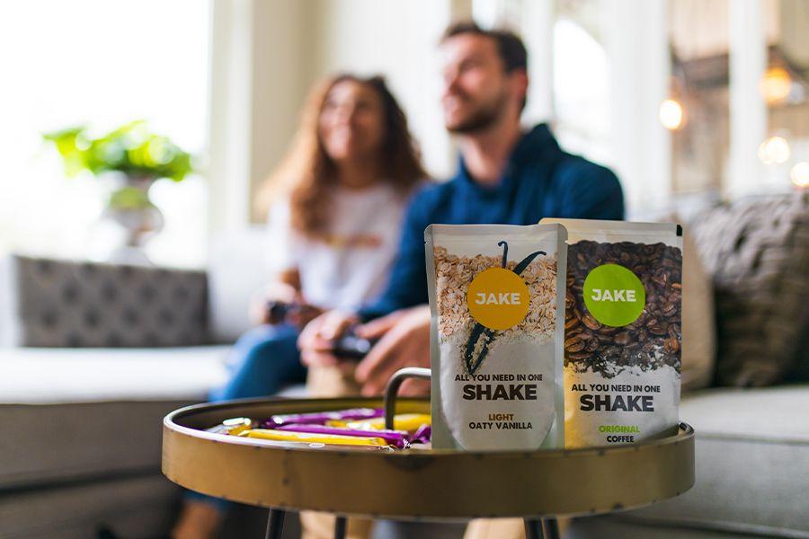 Voedingspakket met shakes en repen van Jake