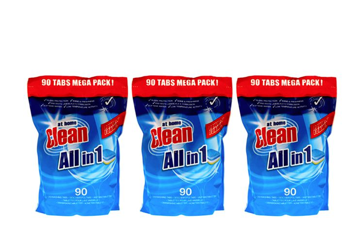 3 zakken Clean all-in One vaatwastabletten (270 stuks)