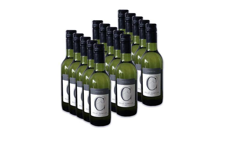 Korting 15 kleine flesjes Chardonnay (250 ml)