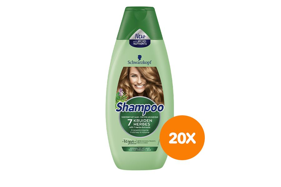 20 flessen shampoo van Schwarzkopf (400 ml)