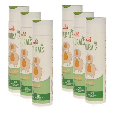 6 flessen bad- en douchecr�me van Zwitsal Naturals