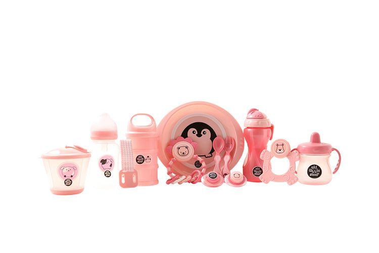 Babypakket roze (12-delig)