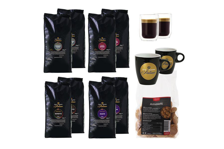 8 pakken met krachtige koffie van Gran Maestro Italiano