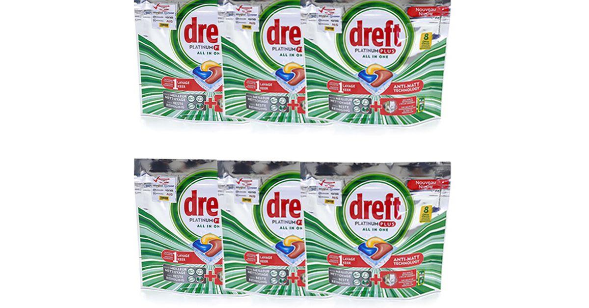 Tablettes lave-vaisselle Dreft (48 pièces)
